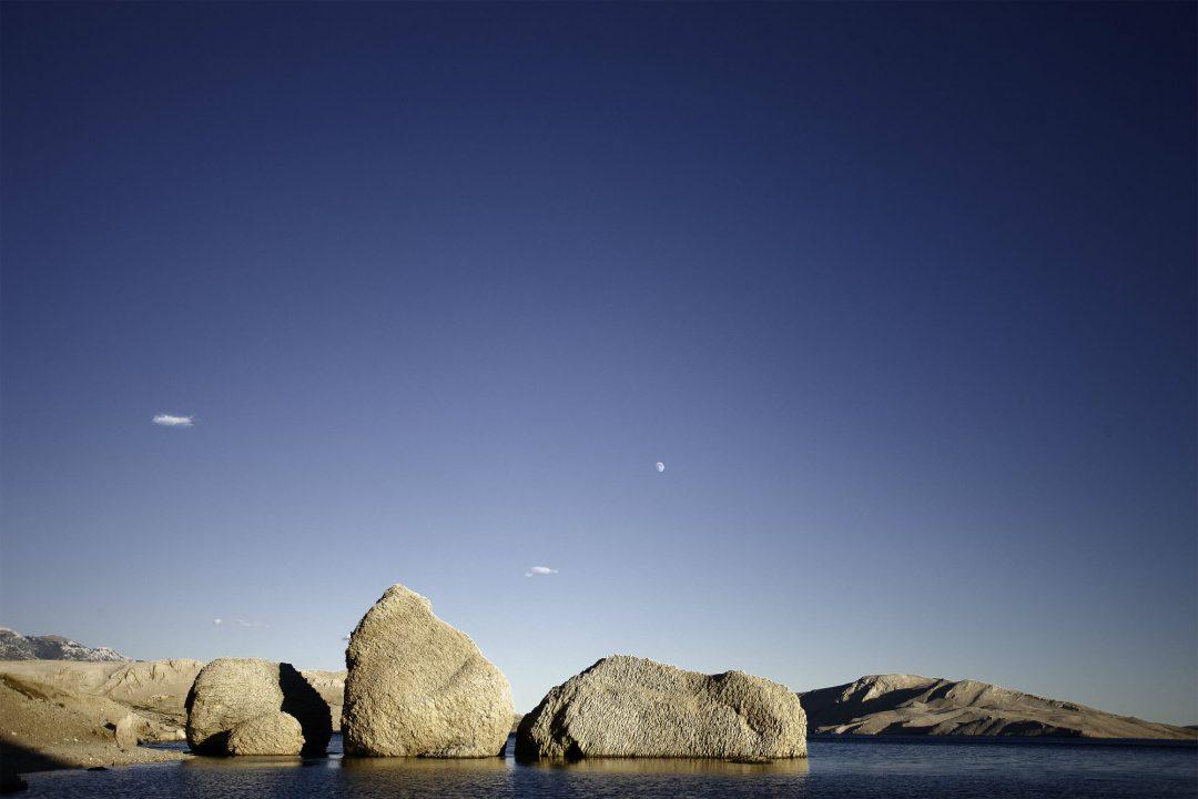 Croazia, l'isola di Pago al chiaro di luna