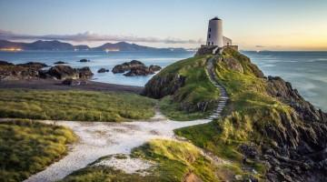 Ty Mawr Lighthouse on Llanddwyn Island, Wales, UK