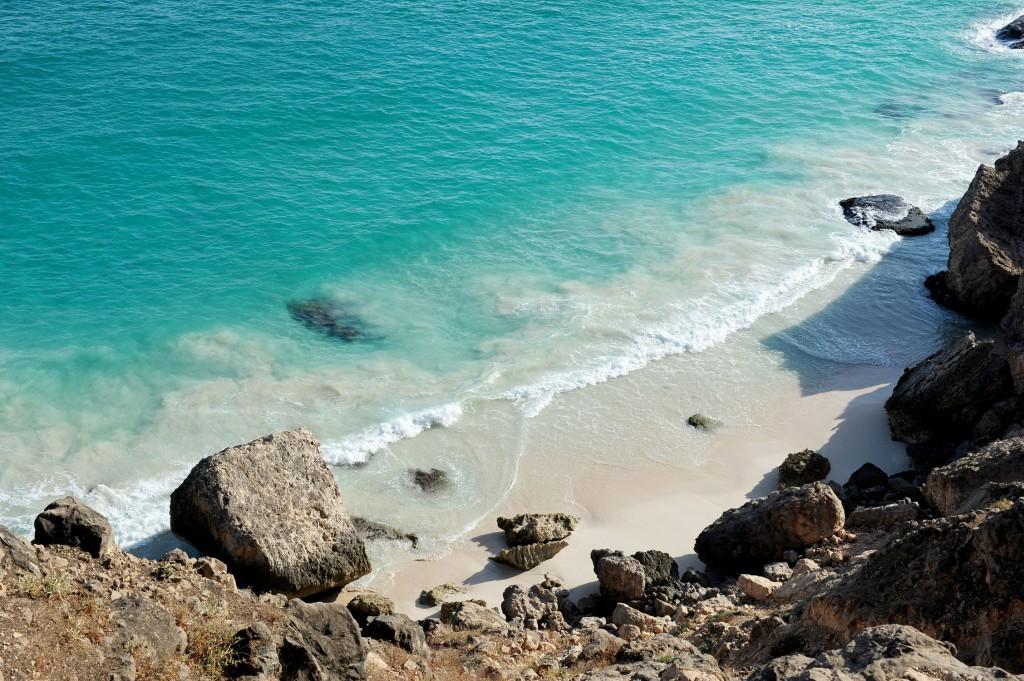 Dhofar Oman, spiaggia di Al Fazaya