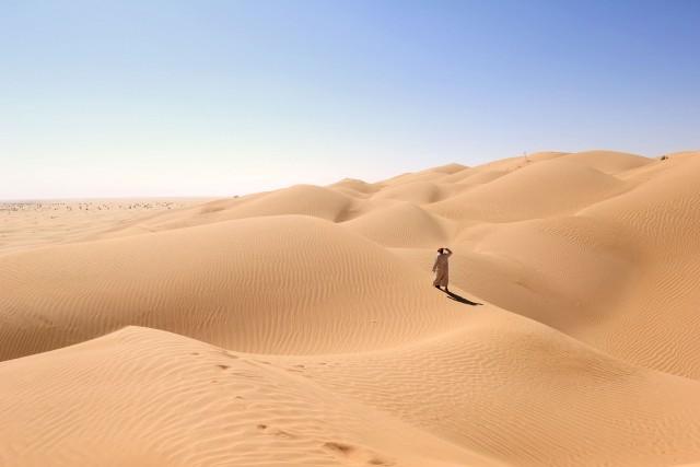 A due ore d'auto da Salalah si incontra il deserto Rub Al Khali, solcato dalle piste dell'antica Via dell'incenso.