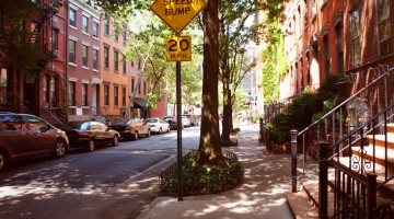 Perry street of Greenwich village district