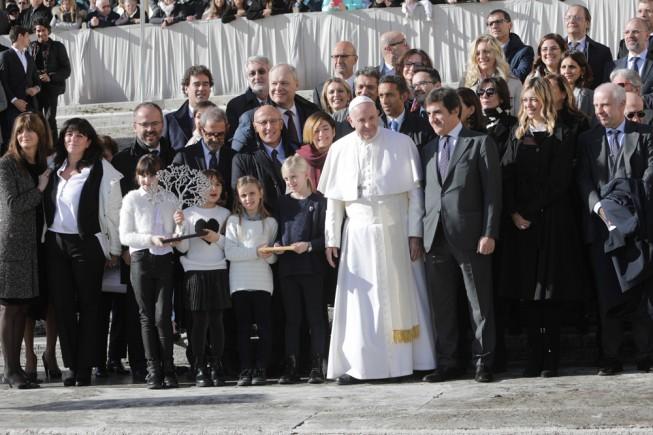 L'incontro della delegazione di Rcs Mediagroup con il Santo Padre