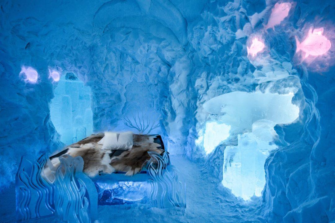 Lapponia: una notte nell'hotel di ghiaccio