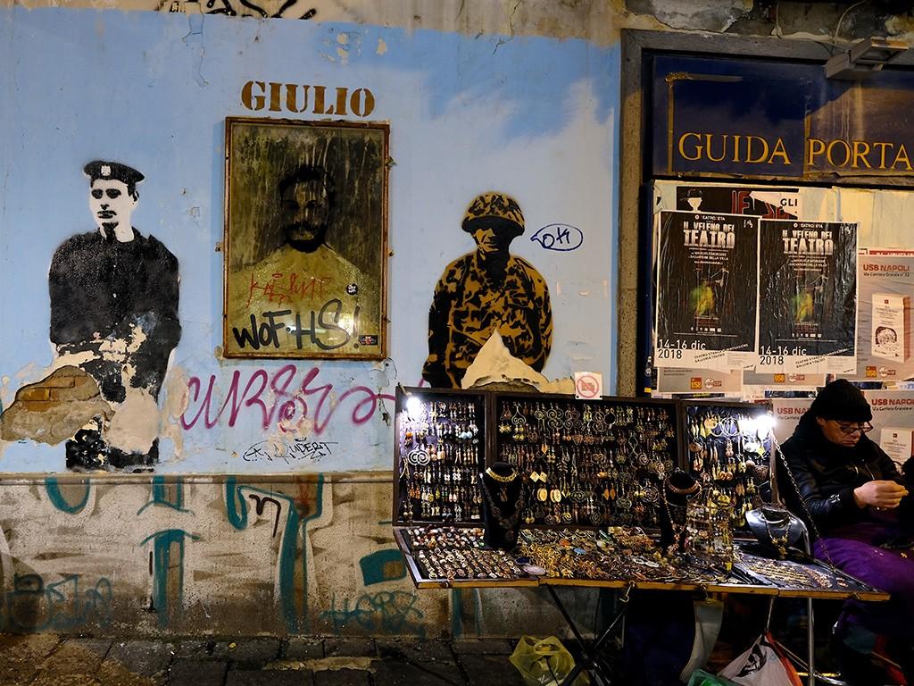 San Biagio dei librai: un graffito dedicato a Giulio Regeni (Foto di Carlo Rotondo).