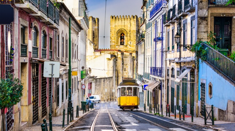 Lisbon Tram and Cityscape