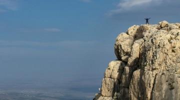 La vetta del monte Arbel, nei pressi della città di Tiberiade