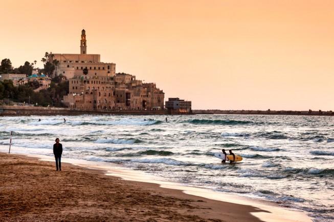 Tel Aviv: la città vecchia di Jaffa vista da Alma beach. Foto: Giovanni Tagini
