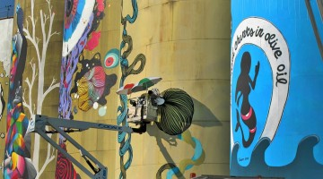 Catania street art silos