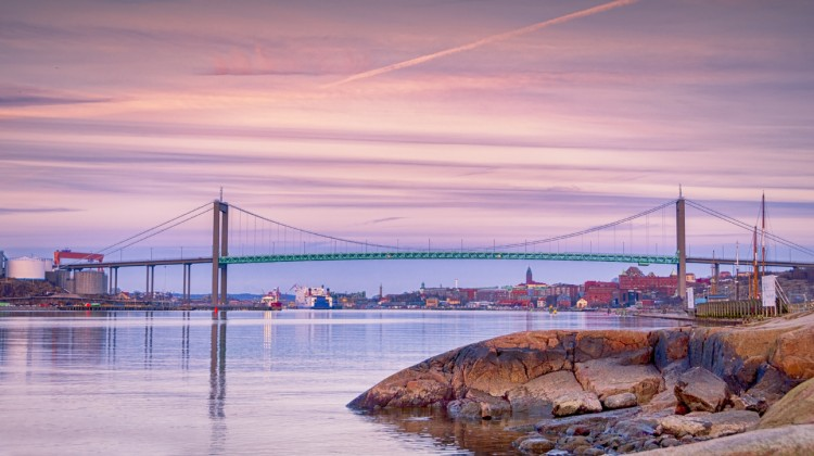 Sea Entrance to Gothenburg in the evening
