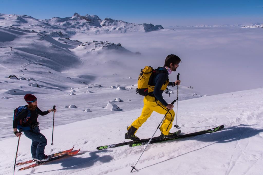 Hervé Barmasse verso il Colle di Breuil (foto di Marco Spataro)