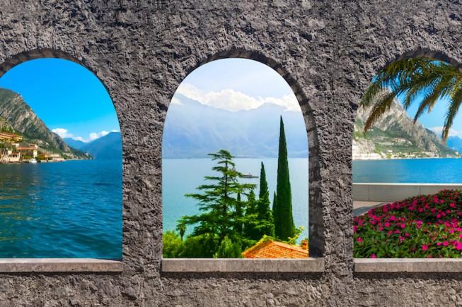 Uno splendido panorama sul Lago di Garda