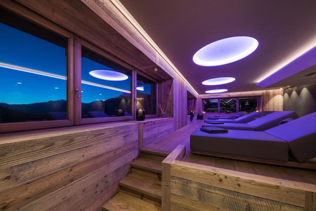 L'area relax della Spa del Sunny Valley Mountain Lodge