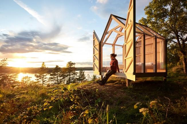 La cabina di vetro di Henriksholm. Ph: Jonas Ingman