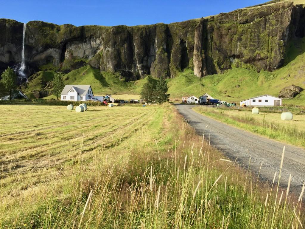 Una fattoria sulla costa meridionale dell'Islanda