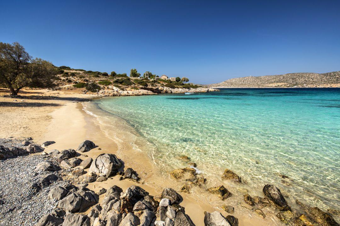 Mare selvaggio sull'isola di Chios