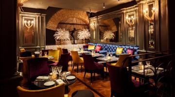 Gli interni in stile anni Trenta del Valentyne Restaurant & Club
