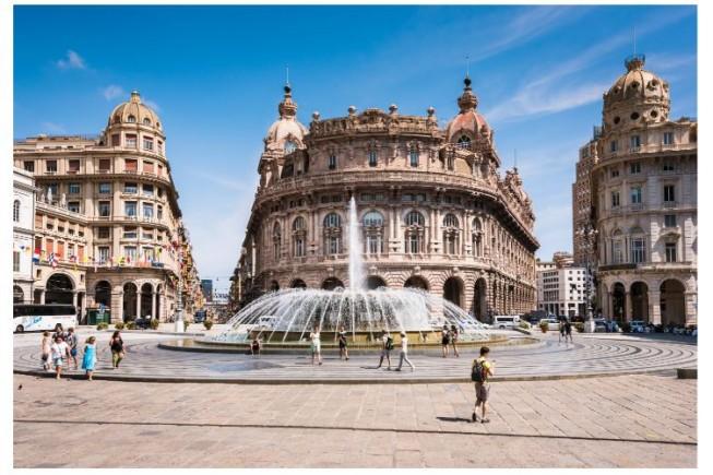 Il Palazzo della Borsa di Genova, sede, dal 13 al 15 giugno, del Silver Economy Forum