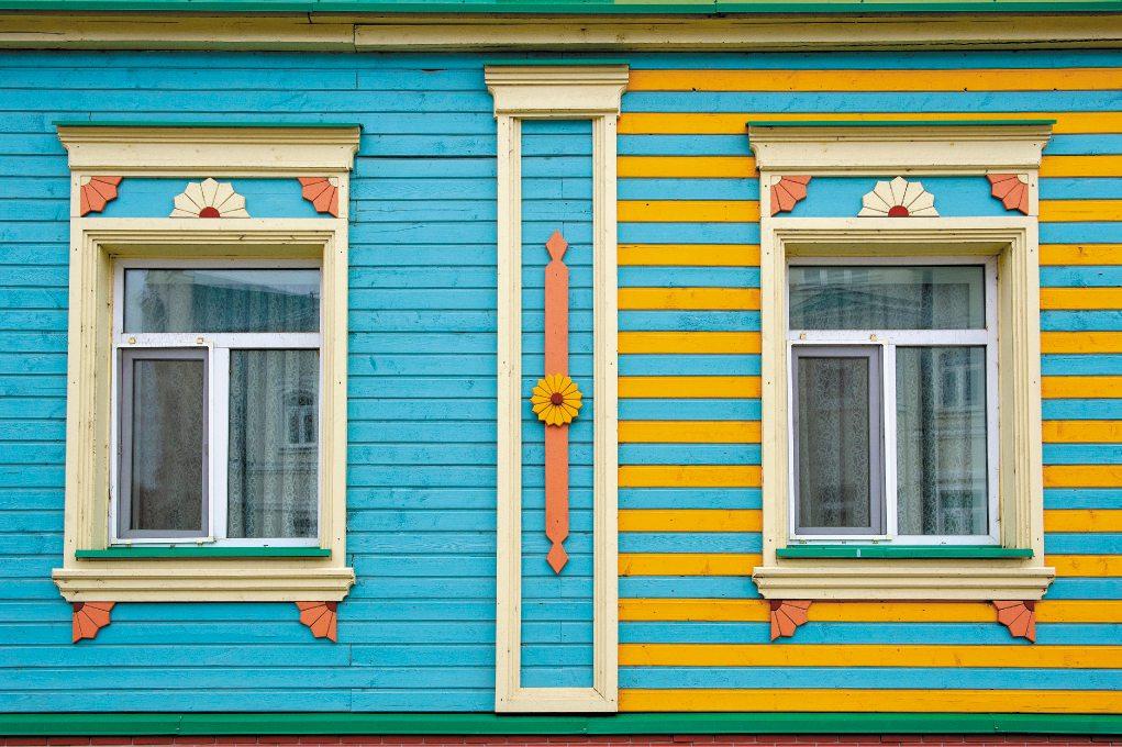 Un dettaglio del Chak Chak museum di Kazan.
