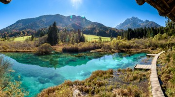 Zelenci lake in Slovenia.
