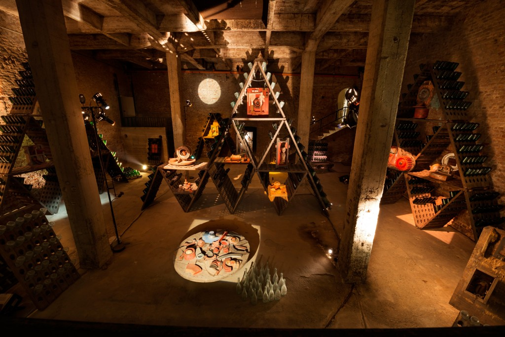 Arte in cantina: Piramide di Guglielminetti, Cantine Bosca