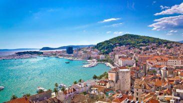 Una veduta di Spalato, Croazia