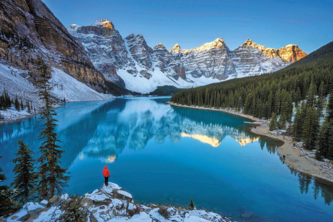 Moraine Lake Canada in inverno: dove sciare