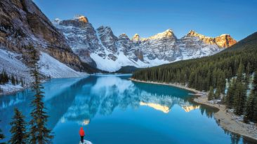 Moraine Lake Canada in inverno: dove sciare