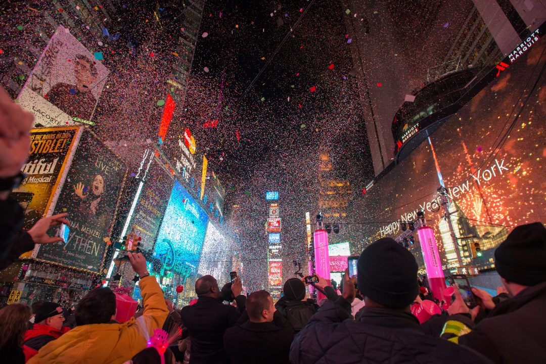 New York, Capodanno nei luoghi simbolo della festa