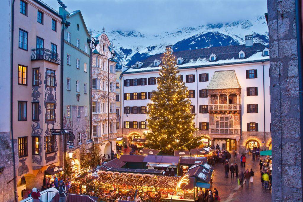 Mercatino di Natale a Innsbruck, in Tirolo, Austria
