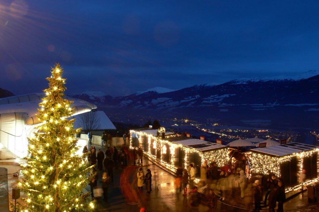 Mercatini di Natale in Tirolo, Austria: Il mercatino di Natale panoramico di Hungerburg a Innsbruck