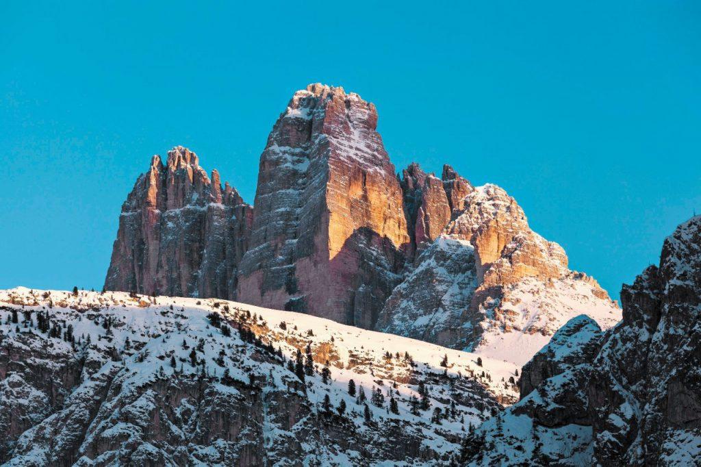dove sciare sulle Alpi Tre Cime di Lavaredo
