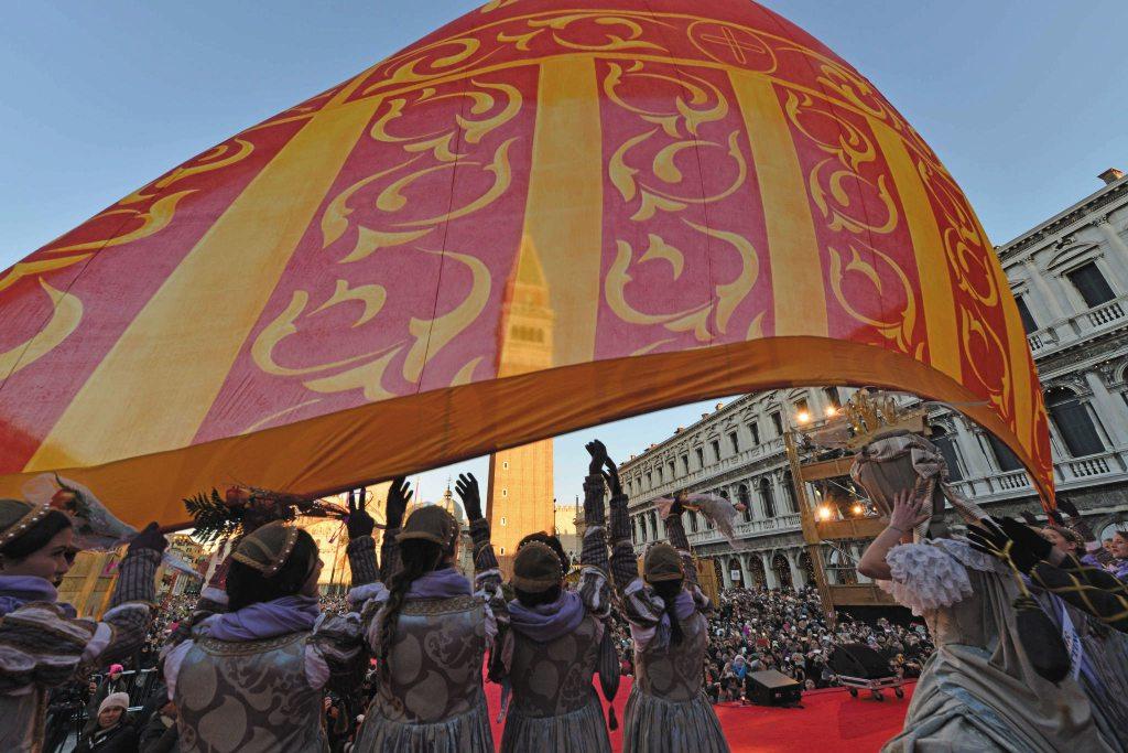 Il volo del Leone al Carnevale di Venezia, uno degli eventi di febbraio 2020