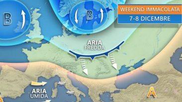 previsioni meteo del fine settimana