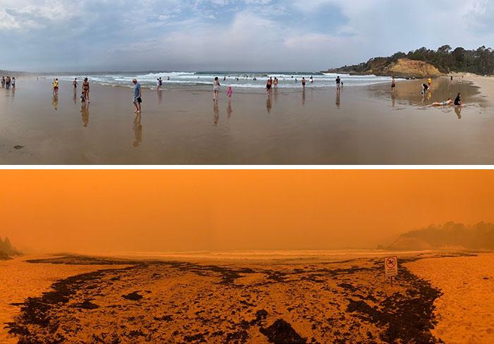 In Australia è cambiato tutto: 40 immagini drammatiche, prima e dopo gli incendi