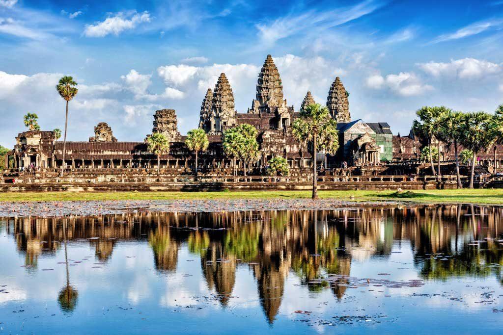 Tra i templi di Angkor Wat a febbraio