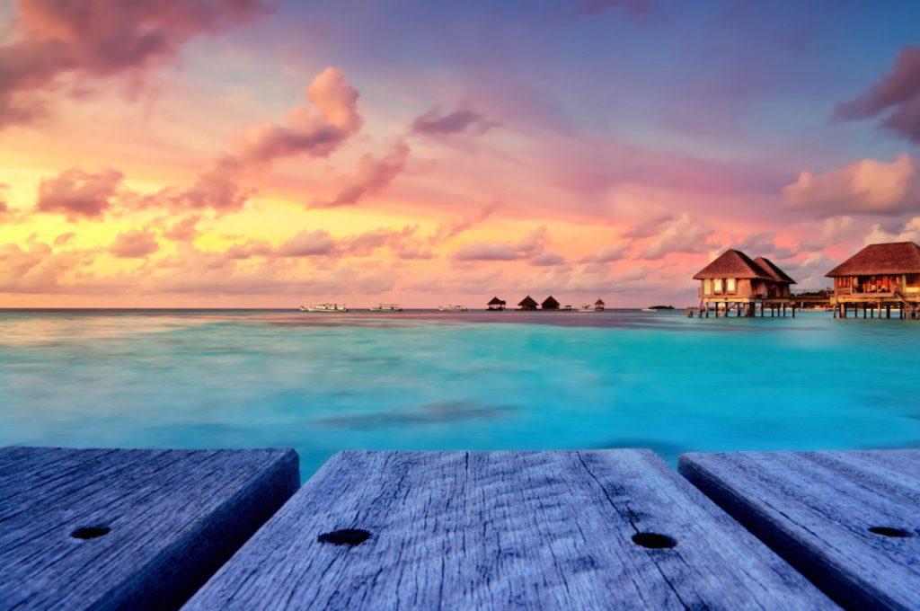 Ville sull'acqua alle Maldive, meta per un viaggio di nozze da sogno