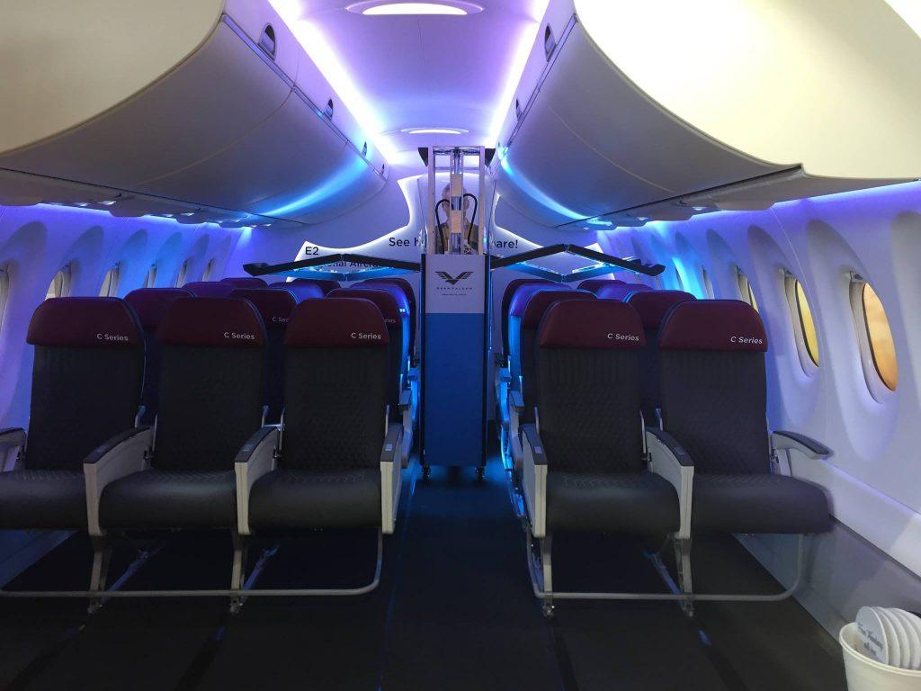 Il dispositivo di disinfenzione dele cabine degli aerei Germfalcon