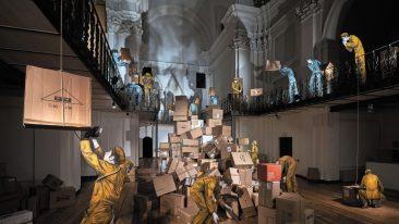 Un'installazione al C.AR.M.E., ex chiesa trasformata in spazio culturale e per eventi