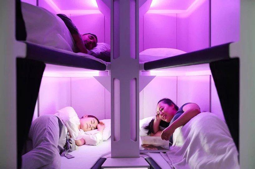 Air New Zealand: arrivano le cabine con i posti letto, per dormire anche in economy
