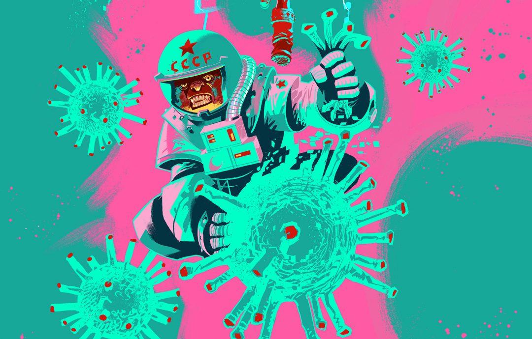 Illustrazione manifesto Coronacomics