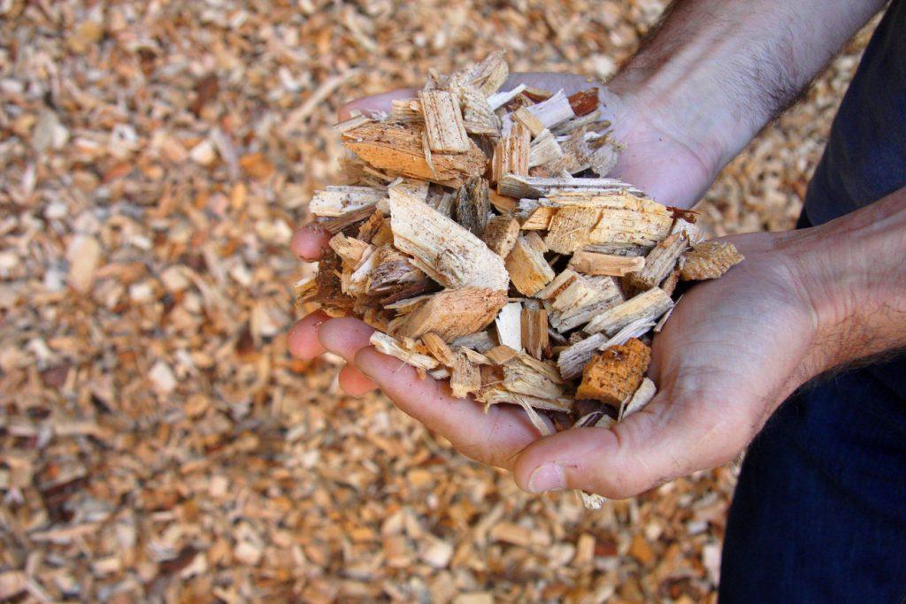 Legno di scarto usato per la caldaia a biomassa