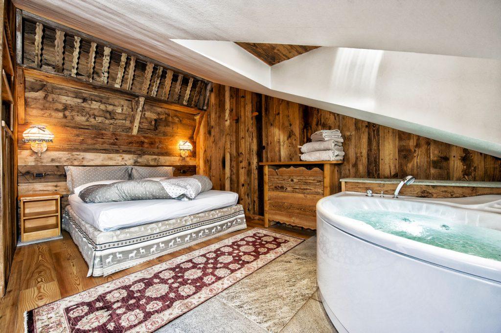 una suite di Villa Jolanda