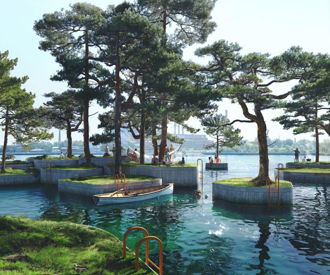 Parkipelago: l'incredibile parco di isole galleggianti nel porto di Copenaghen