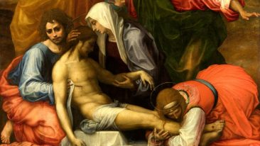 Il Compianto sul Cristo morto (particolare), Fra Bartolomeo, Gallerie degli Uffizi
