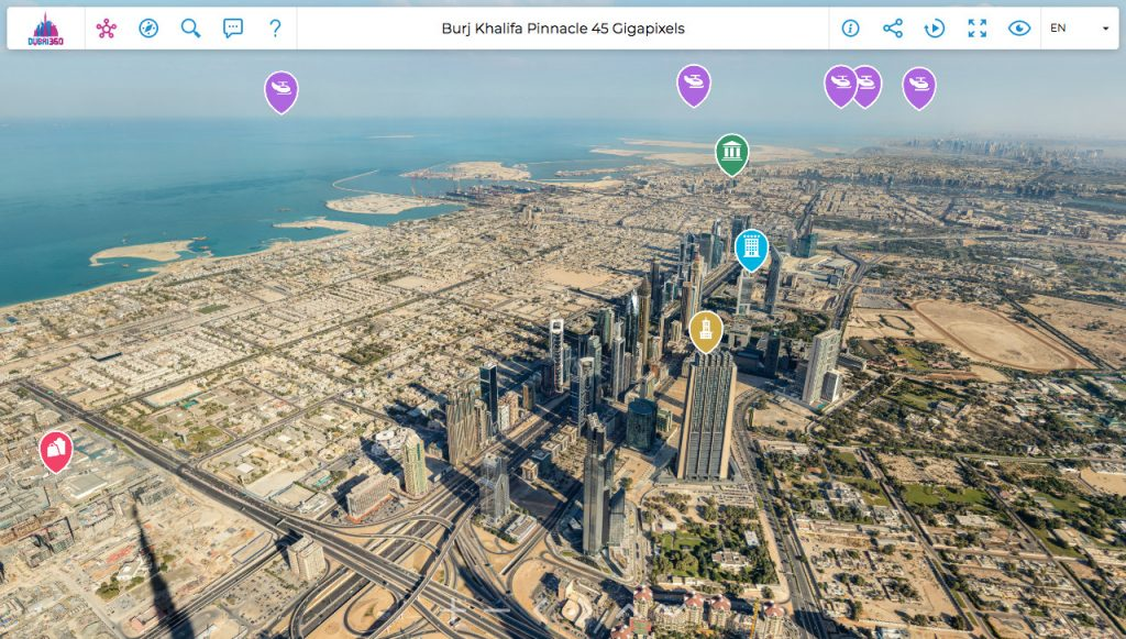 Dubai360 Vista virtuale dal Burj Khalifa