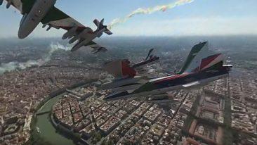 Il sorvolo delle Frecce Tricolori su Roma a 360°
