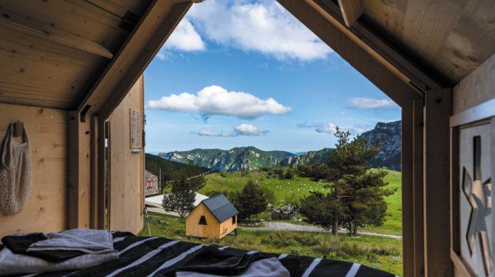 Foto Le casette en plein air dove dormire sotto le stelle