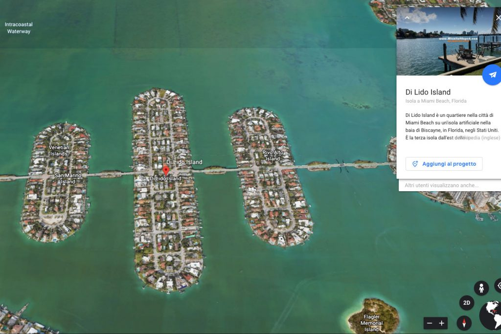 Lido Island vista da Google Earth