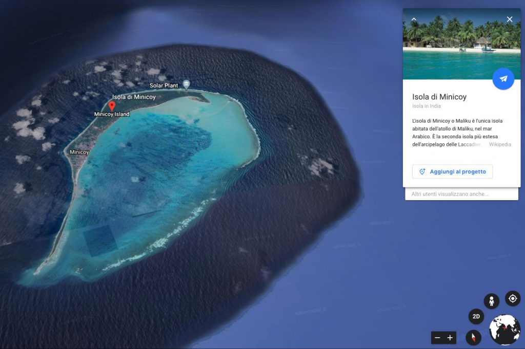 Earth Day: mi sento fortunato Google Earth, isola Minicoy