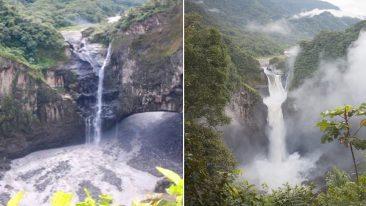 Ecuador: la cascata di San Rafael com'è oggi e com'era